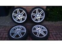 Genuine Mercedes AMG 18 inch alloy wheels