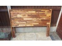solid double headboard new butcher block wood