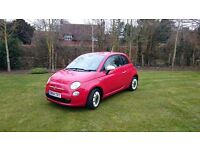 Fiat 500 1.2 Colour Therapy with Retro Pack, Excellent Car, Cheap Tax, Fuel, Red, 2014 City Car