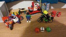 Playmobil motorbike garage