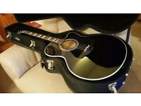 Takamine EG523SC-B electro acoustic guitar and hard case