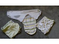Swaddle wraps for 0-3 month babies. Set of 3