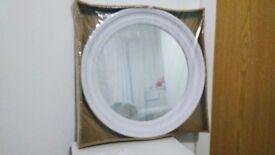 47cm WHITE Decorative Antique French Style Porthole Mirror Shabby Chic Style Acrylic Home Decor