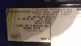 ALICE COOPER TICKETS FOR GLASGOW