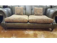 Wade Upholstery Chesterfield Leather 3 Seat & Arm Chair