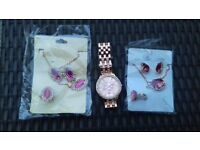 New jewellery sets and watch