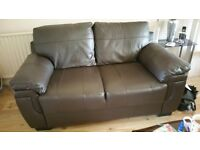 2-seater sofa, in dark brown leather. Great condition.