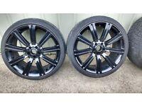 """22"""" alloy wheels & tyres"""