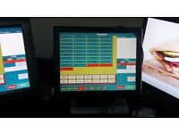 Epos Till Touch with Caller id and Postcode Search for Pizza Chinese Bar Cofee Indian Delivery