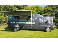 Catering van ,burger van bussiness with pitch
