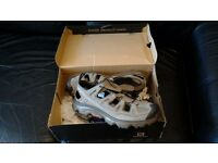 Size 9.5 Salomon Gila Absolute Brown-X / Burro walking sandals. NEW.