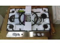NEW WORLD NWGHU701 Gas Hob - Stainless Steel Ex display