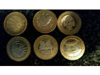 Assorted £2 coins