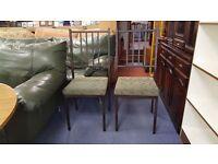2 X Metal Frame Chairs