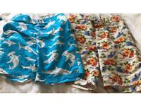 2 pairs men's boys swim shorts