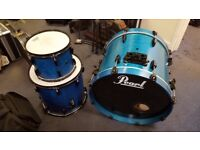 Pearl Fusion Drumkit with Rack/Cymbals