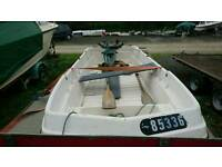 3 Mtr open cathedral Hull fishing boat dory