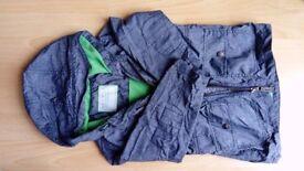 Boy's Grey Raincoat with Green Lining Age 3 - 4