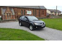 07 REG MITSUBISHI OUTLANDER 2.0 TD 4WORK LWB 4X4 BLACK 2-KEYS MOT-18 FREE-DELIVERY @BARGAIN CARS