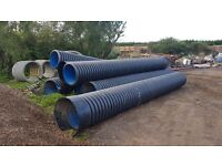 600 mm twin wall unperforated pipe, 6 metre