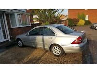 Mercedes C180 Elegance for Spares or Repairs. Engine runs fine. Lots of service history