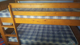 LOVELY SOLID WOOD BUNK BED/SINGLE BEDS WITH DRAWERS