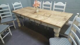 Stunning 7ft Table and 8 Chair Set