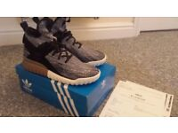 Adidas Originals Tubular X Primeknit Grey Black UK Size 9 Mens Trainers