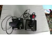 Logitech G Saitek X52 Pro Flight Control System - USB Joystick [Like New]