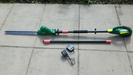Qualcast Extendable Cordless Hedge Trimmer - Only used twice - BARGAIN