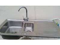 Stainless Steel Kitchen Sink + Tap