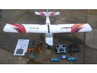 rc plane and drone with safe