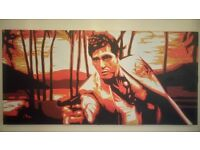 Scarface oil painting 5f 6in x 2f 6in