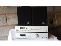 Stereo system for sale. CD/MP3 player, amplifier and speakers.