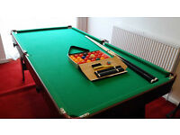 6x3' Snooker Table with balls and cues
