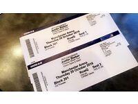 Justin Bieber Purpose World Tour Tickets x2