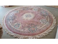 Round Rug (Wool, Dia 6ft, Pastel Colours)