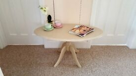 Oval coffee table finished in Annie Sloan chalk paint