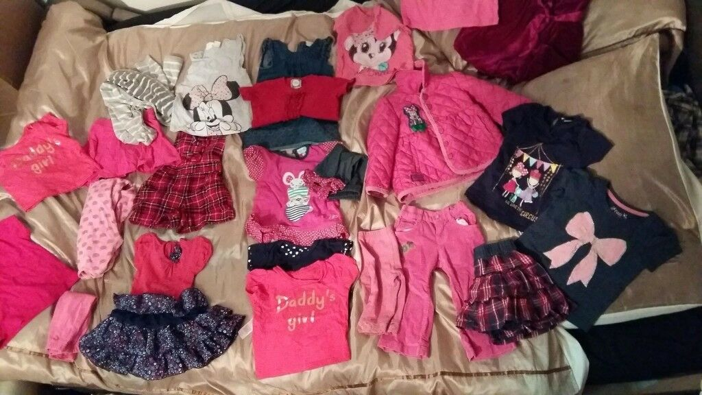 Big bag clothes girl 9-24month