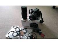 Canon DSLR Camera Boxed + 2 Lenses