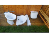 Roca toilet with water tank and sink with leg