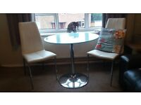 table and 2 chairs £40