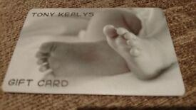 TONY KEALYS GIFT CARD