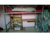 Cabin bed with mattress