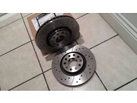 BRAND NEW MTEC389 PERFORMANCE DISCS DRILLED & GROOVED 288MM AUDI A4 A6 PASSAT EXEO