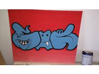 """Street Art"" painting"