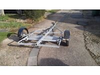 Trailer for Speed Motor Power Boat with Outboard Engine Motor or Sailing Dinghy