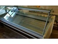 Arneg serve over cabinet 2.5 metres Stainless steel bed Ideal for fishmonger/ butcher etc