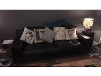 Black leather sofa 1 year old Must Go asap