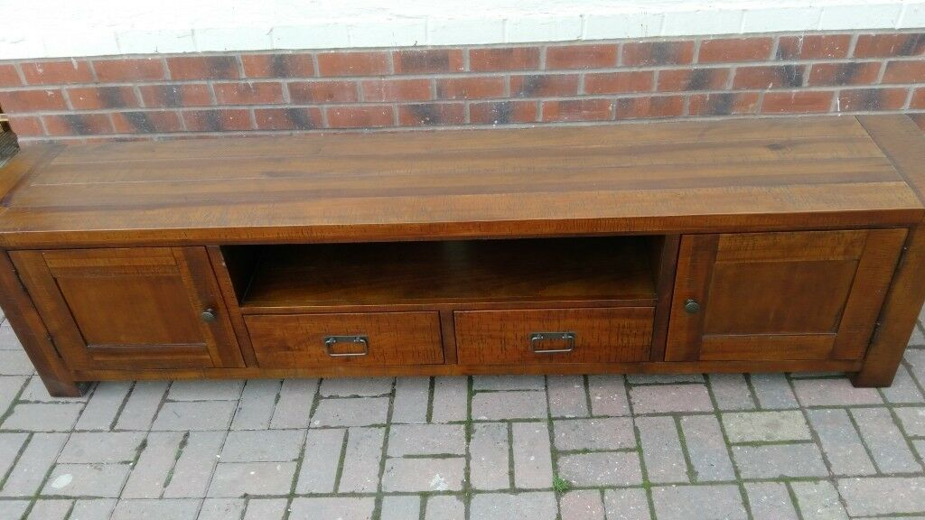 Solid Wood Tv Stand Low Sideboard In Dudley West Midlands